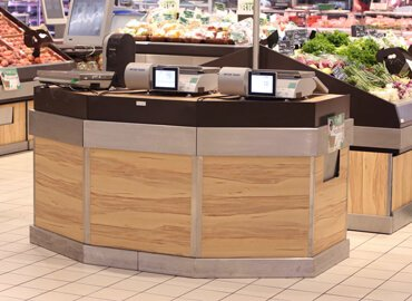 Furniture for hypermarket : Weighing counters