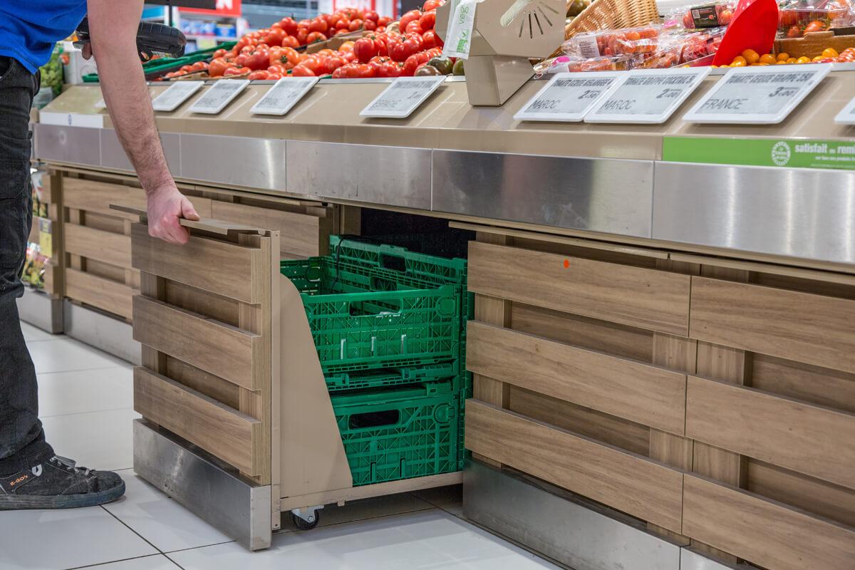 Rangement legumes sur roulettes : Rubis