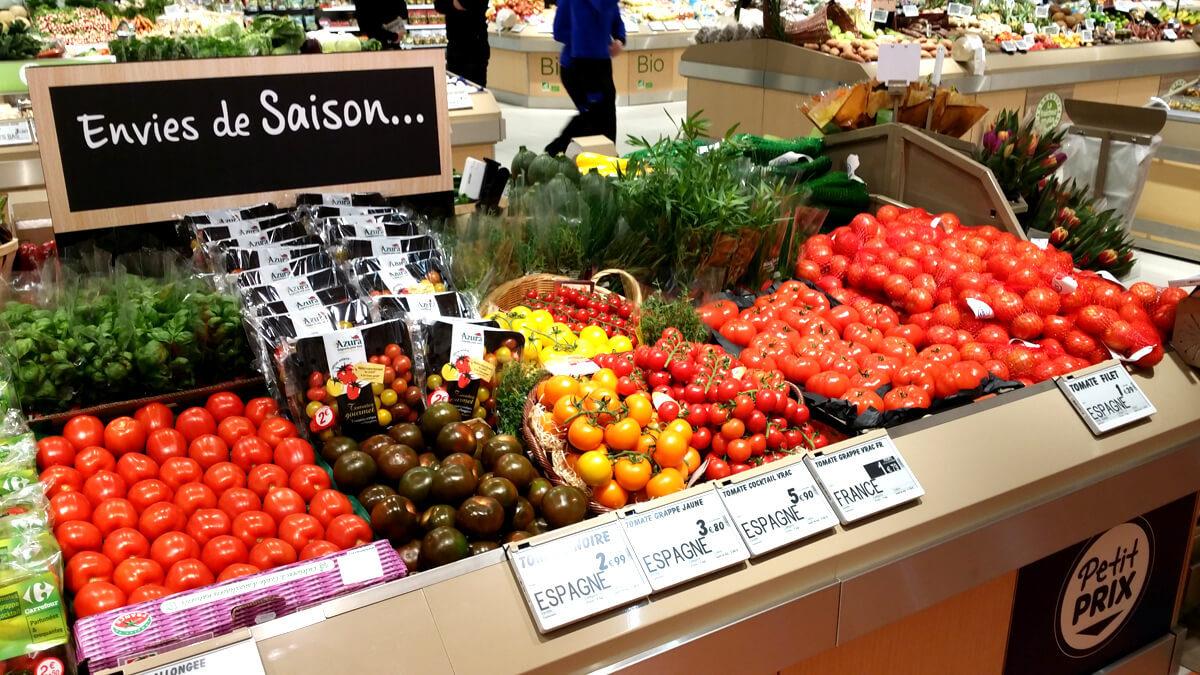 Mobilier rayon fruits et legumes : Rubis